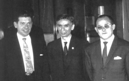 De izquierda a derecha los Dres. David Flores, Proceso S. Ortega y Ranulfo Romero
