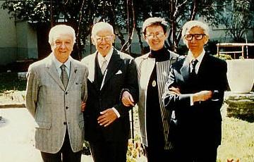 De izquierda a derecha los Drs. Antonio Negro, Tomás Pablo Paschero, Adele Alma Rodríguez y Proceso Sánchez Ortega