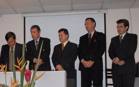 De izquierda a derecha los Drs. Hernando Silva, Miguel Peñaranda, Javier Rueda, Rafael Mantilla e Iván Navas