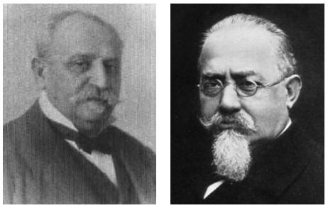 De izquierda a derecha los Drs. Tommaso Cigliano y César Lombroso
